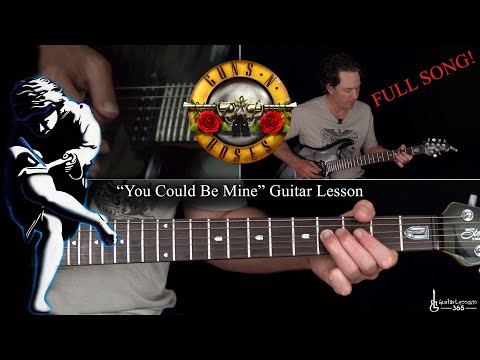 You Could Be Mine Guitar Lesson (Full Song) – Guns N' Roses