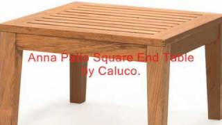 Wood Patio Tables For Deck Or Garden.