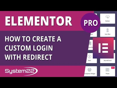Elementor Pro How To Create Custom Login With Redirect