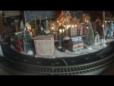 Train village w/ Christmas music