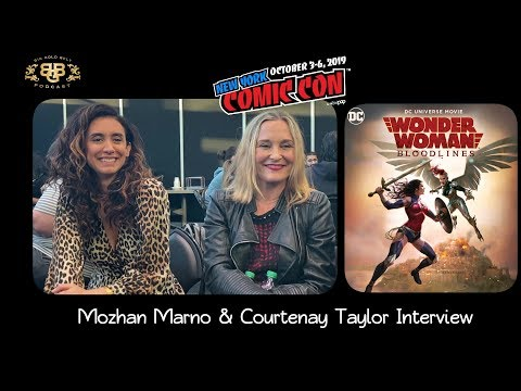 NYCC 2019 | Wonder Woman: Bloodlines | Voice Actors Mozhan Marno & Courtenay Taylor Interview
