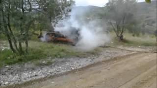 Pożar traktora