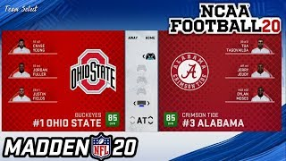 Playing as College Football Teams in Madden 20
