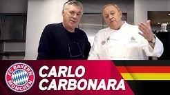Carbonara à la Carlo Ancelotti - Schuhbeck kocht | FC Bayern.tv live