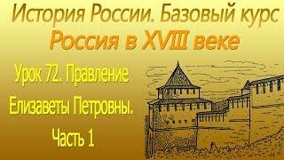 Правление Елизаветы Петровны 1. Россия в XVIII в. Урок 72