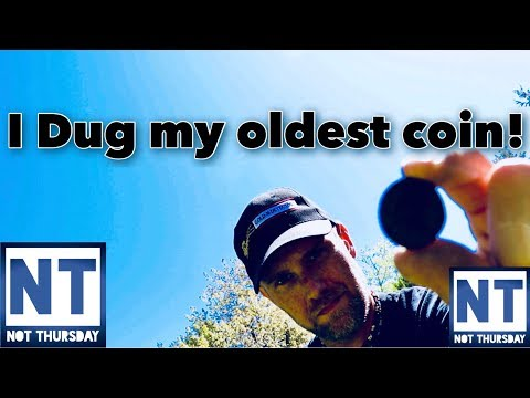 I Dug my oldest coin metal detecting at a cellar hole in NH Garrett ATGOLD Not Thursday #11 VLOG