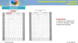 sesion 6 Calificacion e interpretacion del Cuestionario de Personalidad Eysenck-R