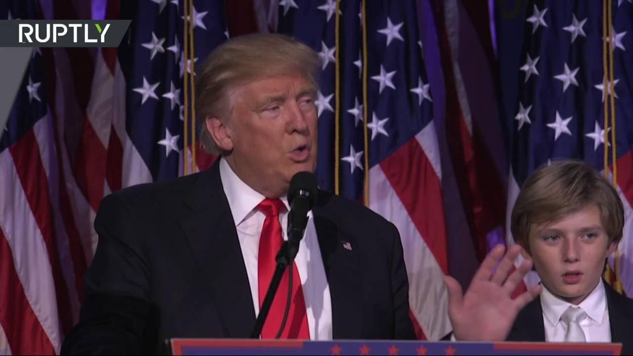Объявление победы Дональда Трампа в штаб-квартире республиканской партии