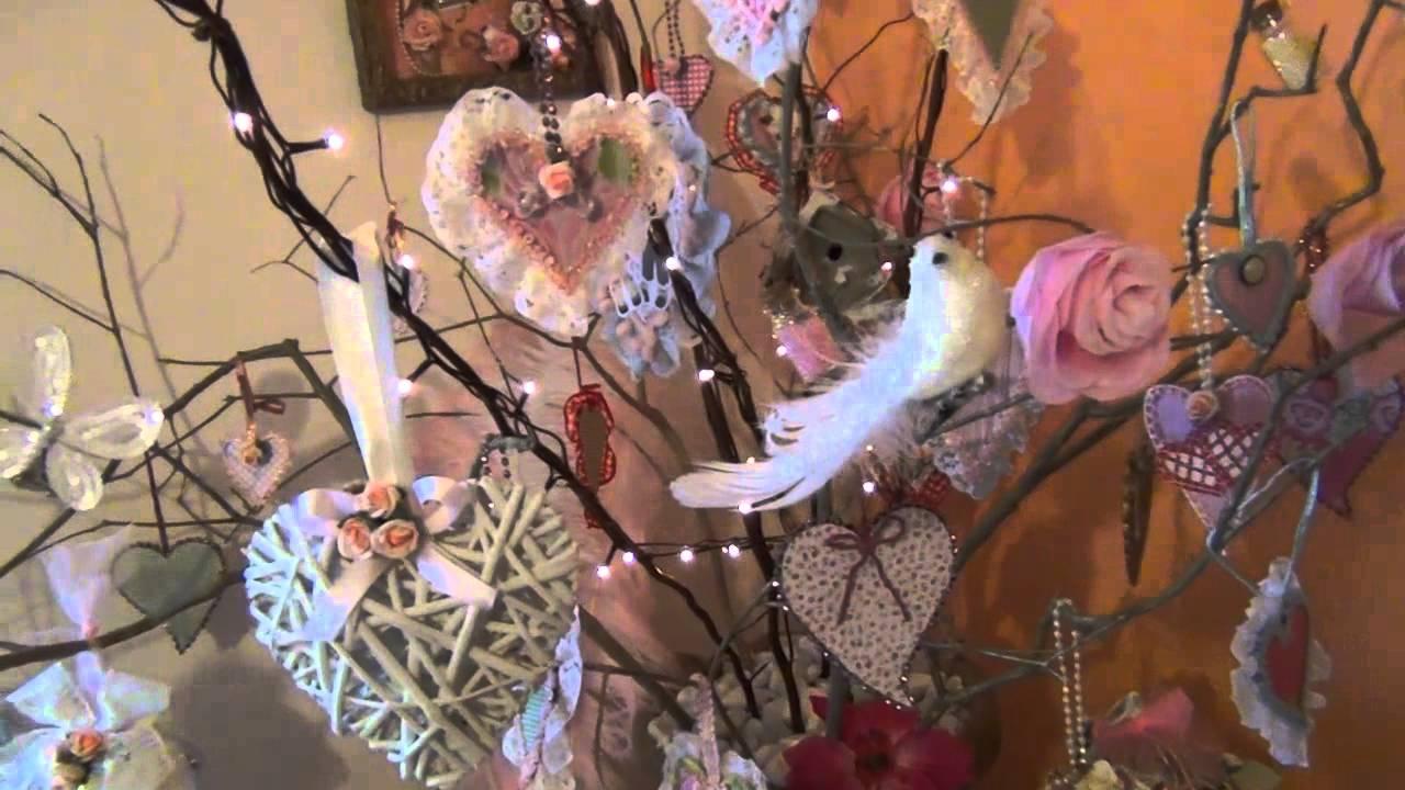 Shabby chic valentine 39 s day tree pink corner youtube - Manteles shabby chic ...
