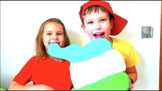 Katy and Max Brush Teeth  and Pretend Play Nursery Rhymes Songs for Kids