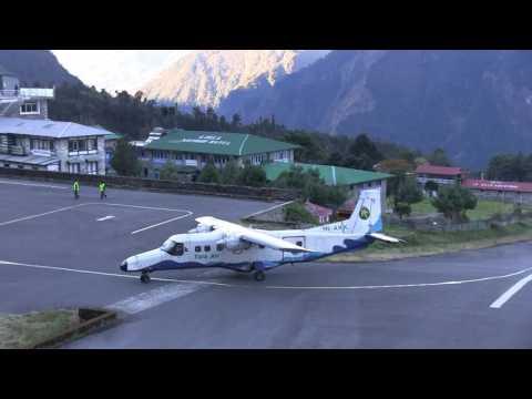 Lukla - Himalaya /Tenzing-Hillary Airport/ najbardziej niebezpieczny airport na swiecie