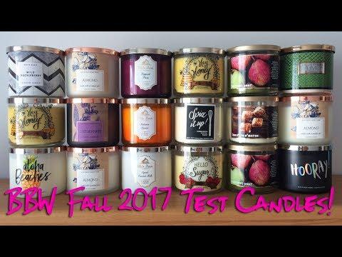Bath Body Works Fall 2017 Test Candle Haul