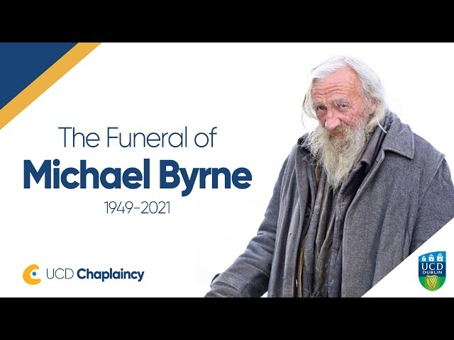 Funeral Service for Michael Byrne officiated by UCD Chaplain Fr Eamonn Bourke