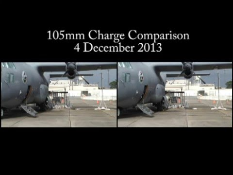 AC-130W 105mm Cannon Load Charge Test