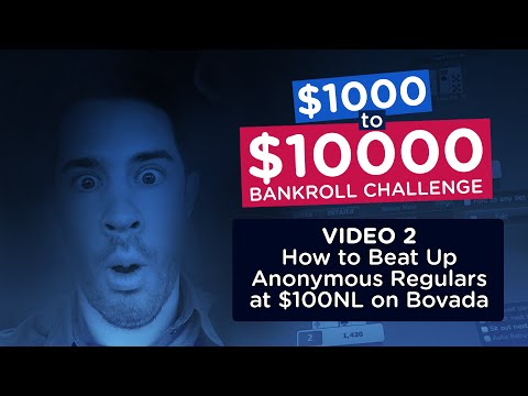 How to Beat Up Anonymous Regulars at $100NL on Bovada