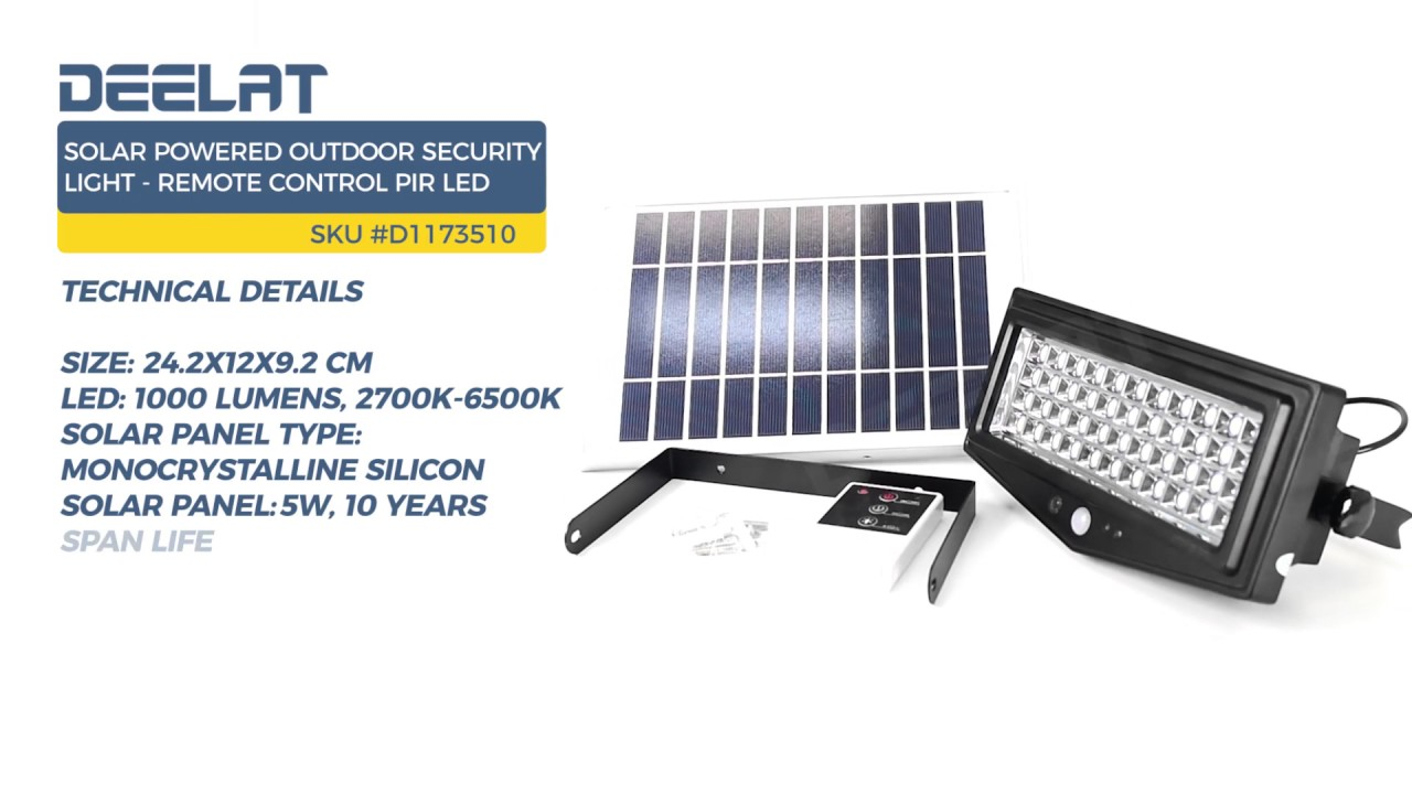 Solar Ed Outdoor Security Light