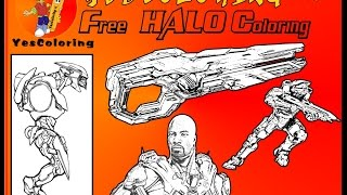 """Free Ice Cold Halo Coloring"" Halo Game, YesColoring"