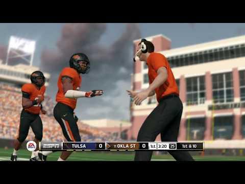 Tulsa @ Oklahoma State - 8-31-17   NCAA Football 18 PRESEASON Simulation