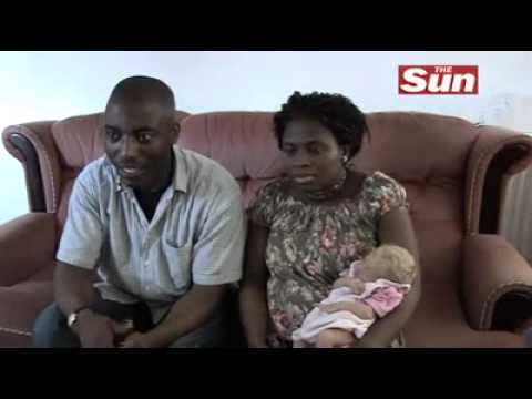 Black african couple gave birth to a white baby
