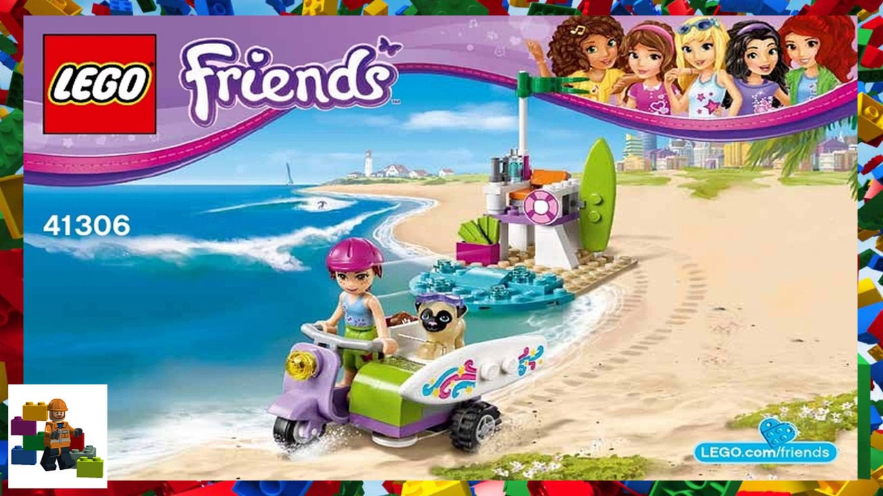 Lego Instructions Friends 41306 Mias Beach Scooter Youtube