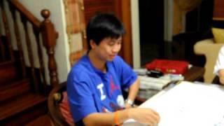 Funny Steven, Mak, Mummy Playing Mahjong