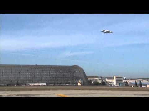 Space Shuttle Endeavour Over NASA