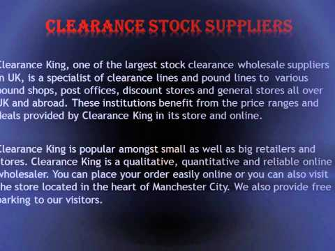 Clearance King UK : Discounted Pound Plus Line Wholesalers & Suppliers In Manchester