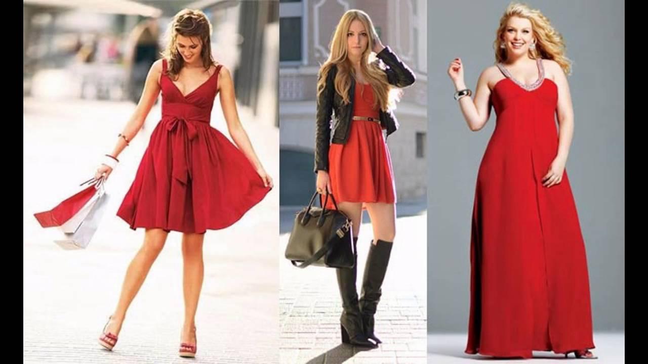 Vestidos rojos para mujeres bajitas