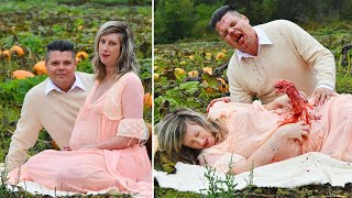 Canadian Couple Stages Grisly and Hilarious 'Alien'-Themed Maternity Shoot
