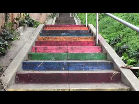 Stair Candy (Micheltorena Stairs) in Silverlake Los Angeles