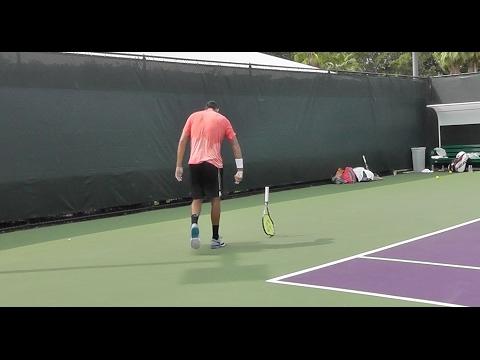 Nick Kyrgios | Practice Points | Miami Open 2016 | Breaks Racket
