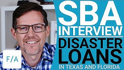 SBA Interview, Small Business Disaster Loans in Texas & Florida - #FINANCEAGENTS LIVE! 006