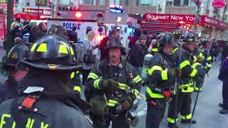 Heightened security in New York City after a pipe bomb explosion in the Port Authority Bus Terminal
