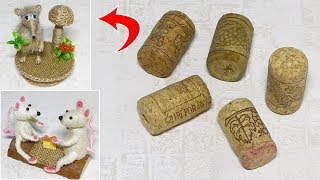 You will not believe. What can be made of Wine Сork. Symbol of the year 2020 Do It Yourself.