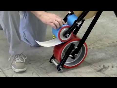 mighty line floor tape applicator - youtube