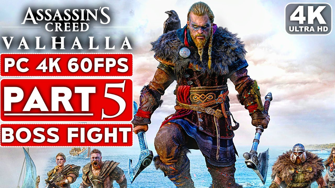 Assassin S Creed Valhalla Rued Boss Fight Gameplay Walkthrough Part 5 4k 60fps Pc No Commentary Youtube