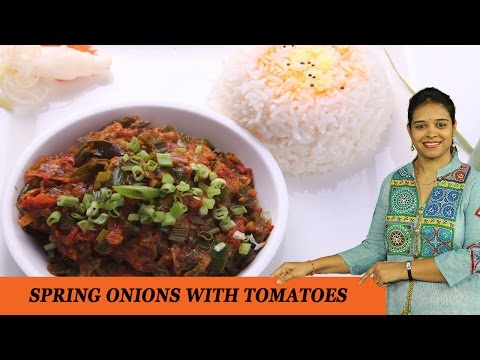 SPRING ONIONS WITH TOMATOES - Mrs Vahchef