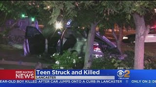 Car Jumps Curb In Lancaster, Killing Teenage Pedestrian