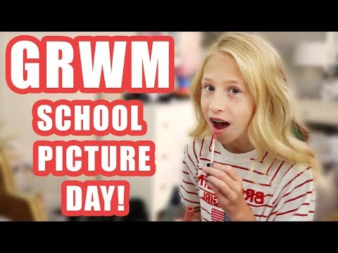 GRWM School Picture Day with Natural hair (funny stay at home mom)
