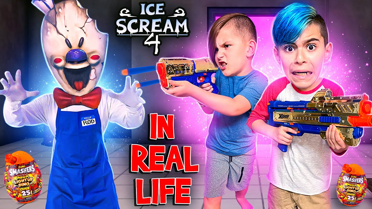 Download ICE SCREAM 4 IN REAL LIFE! ROD FOUND OUR NEW HOUSE | ZURU DINO SMASHERS
