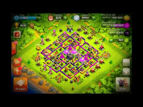 Clash of clans best defensive farming base town hall 9 i ever made