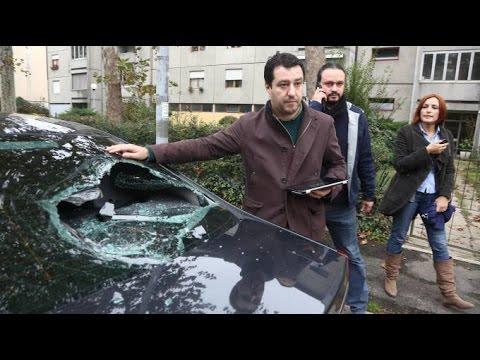 Antifa Attacks Italian North League Leader . Who's The Fascist?!