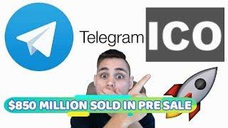 📨 Telegram Pre Sale Sells $850 MILLION - Best ICO All Time?!