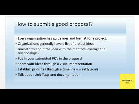 How To Submit A Good Gsoc Proposal Youtube