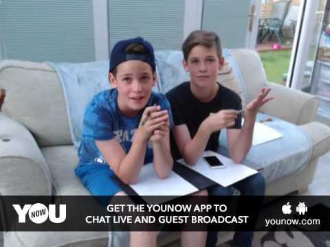 LIVE on YouNow July 3, 2016