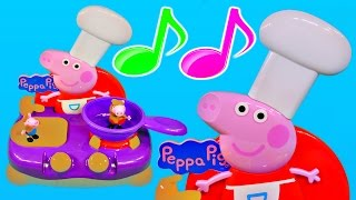 Peppa Pig Sing Along Kitchen Play Doh Muddy Puddles Cooking Playset Peppa