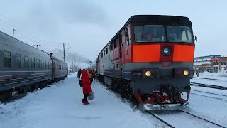 Фирменный поезд «Воркута» 041М Воркута — Москва, купейный вагон