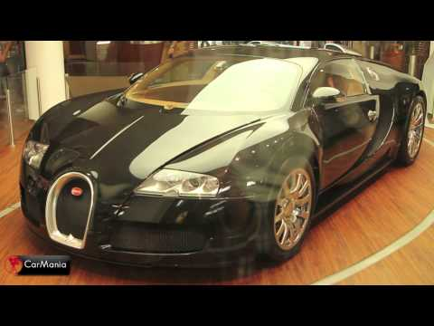 Black Bugatti Veyron at a showroom in the capital Berlin. HD 1080P