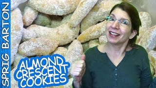 Best Almond Crescent Cookies ★ Great Recipes ★ Sprig Barton