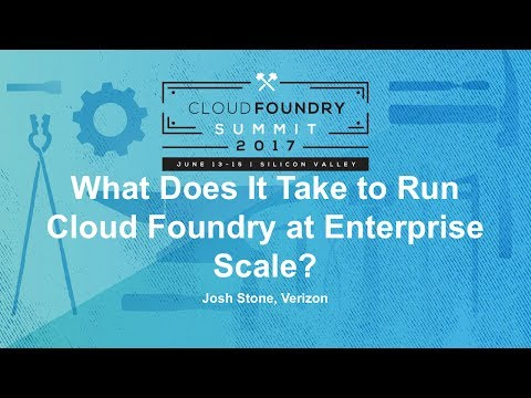 What Does It Take to Run Cloud Foundry at Enterprise Scale?